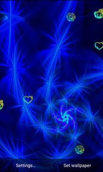 Z4 Blue Neon Live Wallpaper apk screenshot