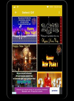 2018 Happy New Year Wishes And GiFs apk screenshot