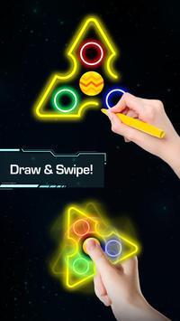 Draw Finger Spinner poster