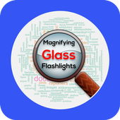 Digital Magnifying Glass free with Light icon