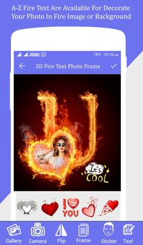 Fire Text Photo Frame screenshot 3