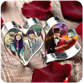 Valentine Day Dual Photo Frame icon