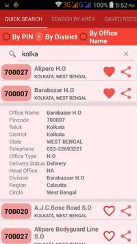 Indian PIN codes apk screenshot