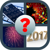 Guess New Year Word icon