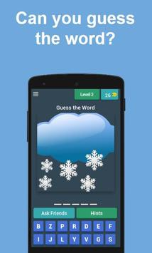 Guess the Weather Word imagem de tela 1
