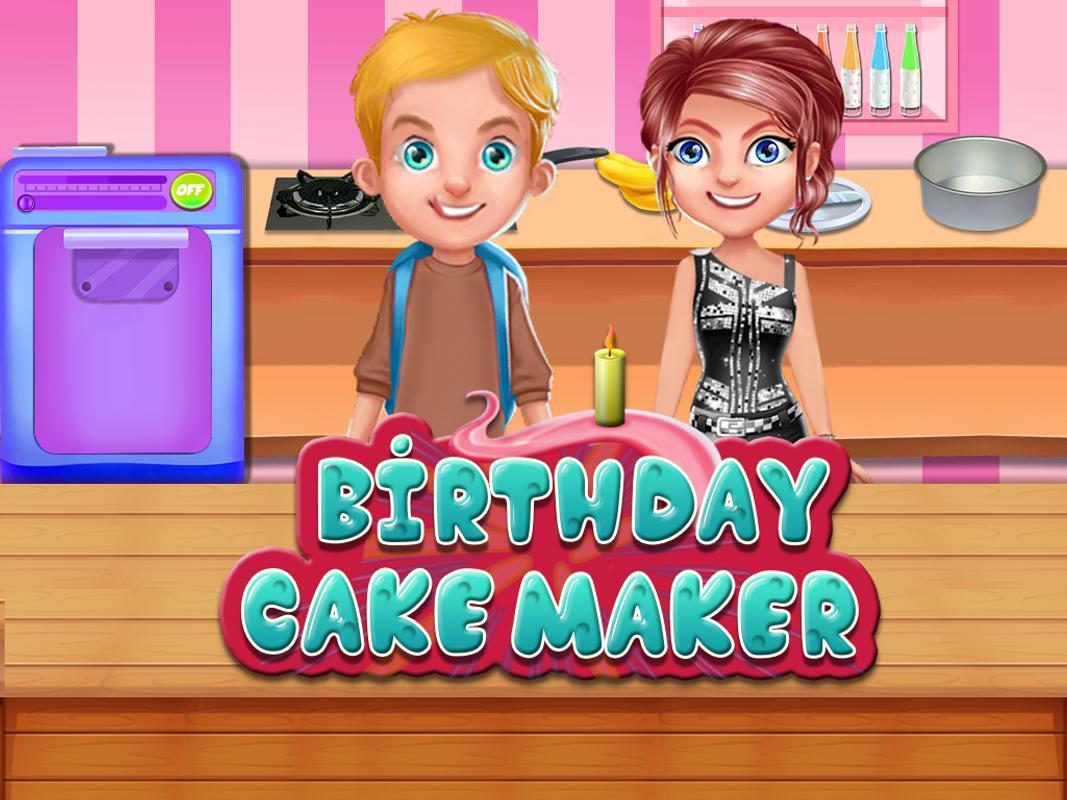 Birthday Cake MakerCooking Game Poster