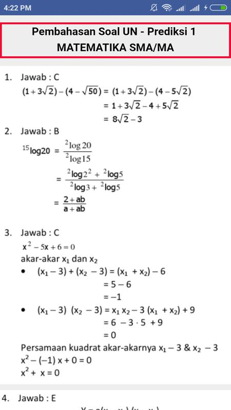 Contoh Soal Un Matematika Smp Dan Pembahasannya Dapatkan Contoh