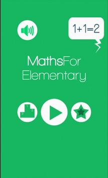 Maths Game for Elementary poster