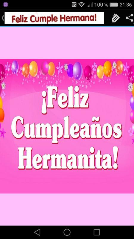 Feliz Cumpleanos Hermana For Android Apk Download
