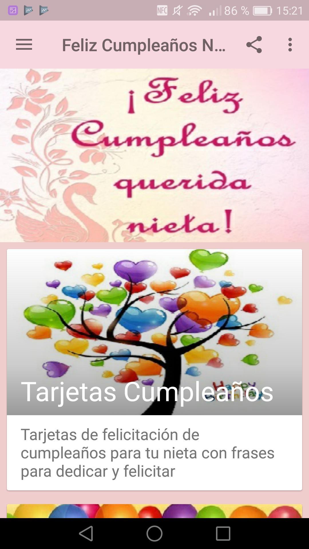 Feliz Cumpleaños Nieta For Android Apk Download