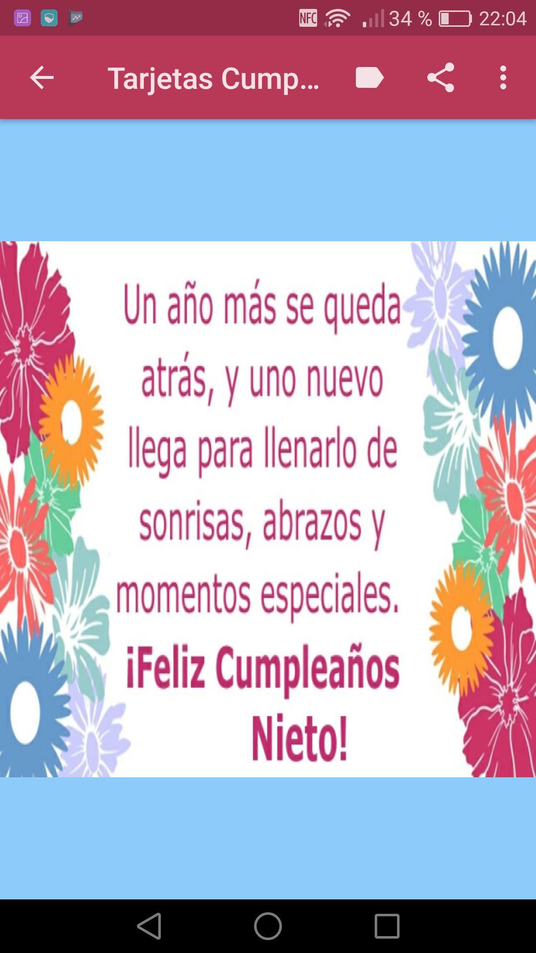 Feliz Cumpleaños Nieto For Android Apk Download