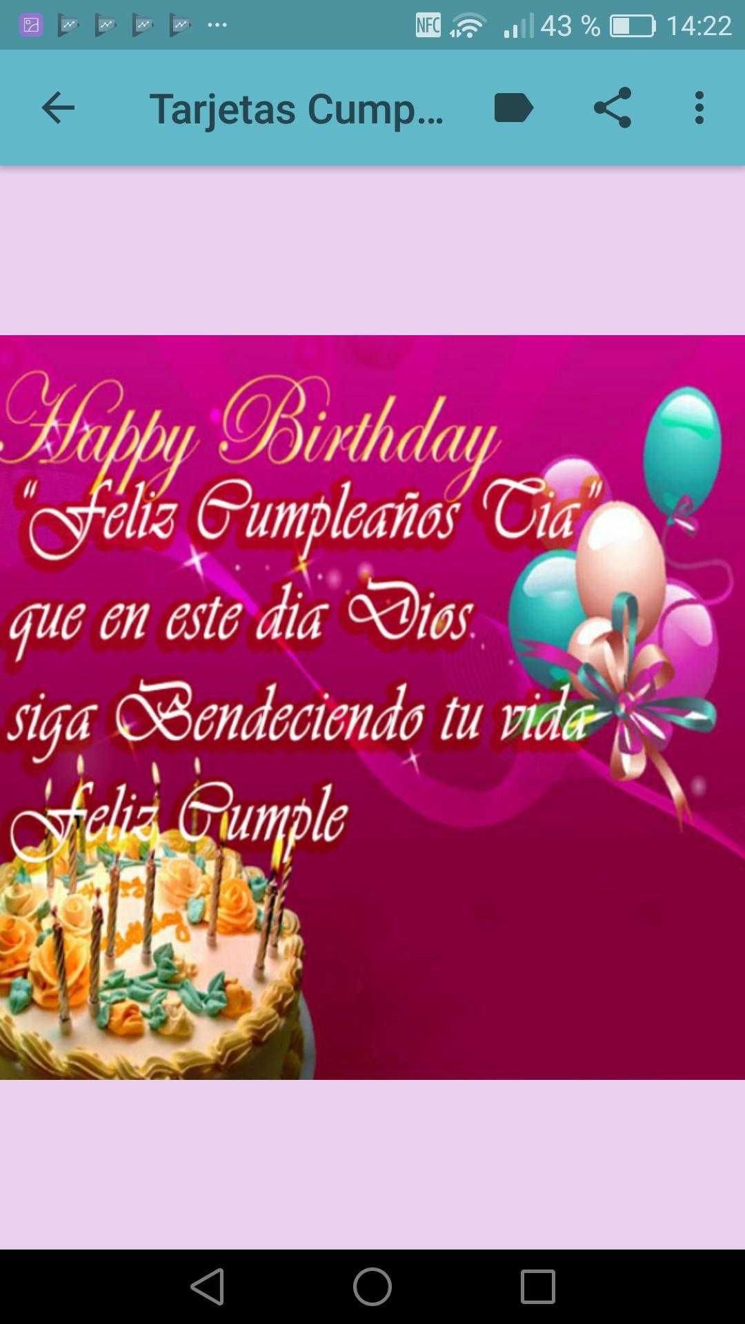 Feliz Cumpleaños Tia For Android Apk Download