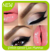 Stylish Glossy Lips Makeup icon