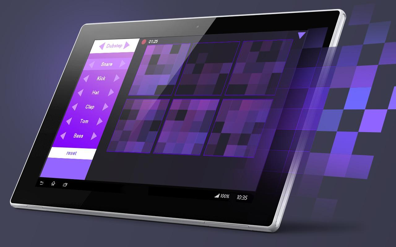 beat pads maker dubstep trap para android apk baixar. Black Bedroom Furniture Sets. Home Design Ideas