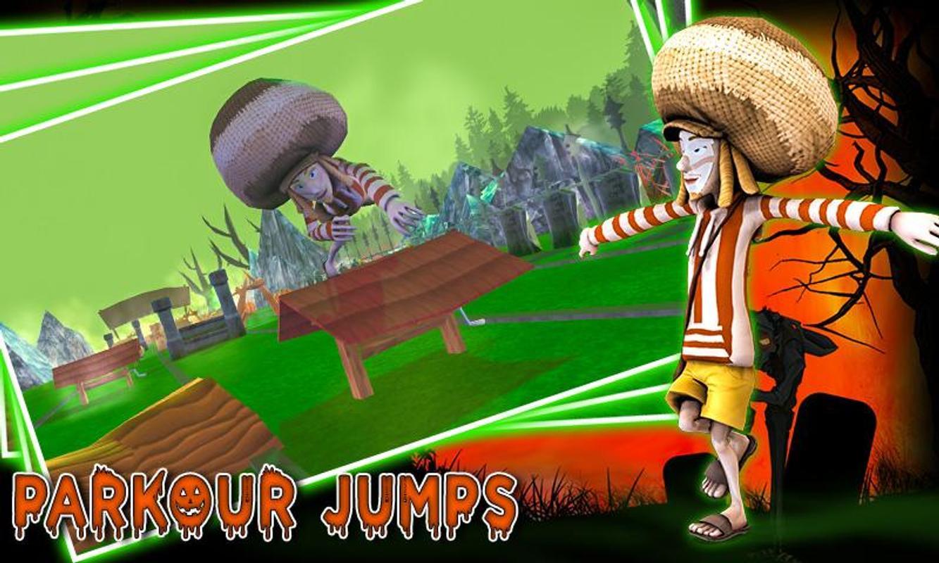 Хэллоуин ночь зомби паркур 3d прыжок и запустить для андроид.