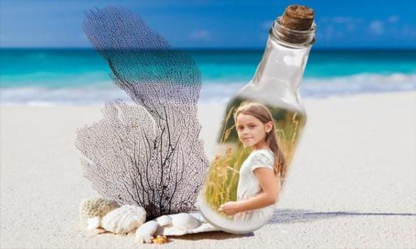 Glass Bottle Photo Frames poster