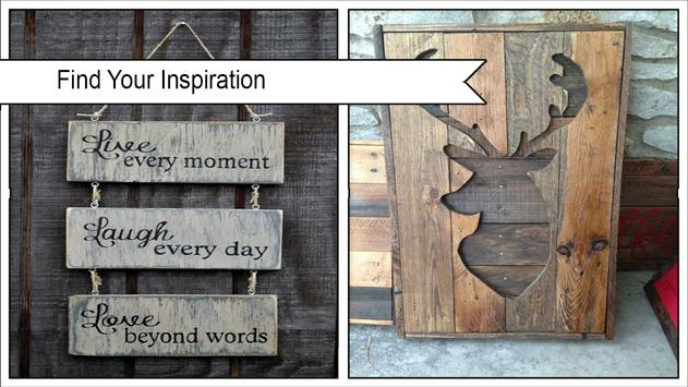 Classic DIY Pallet Wood Wall Sign poster