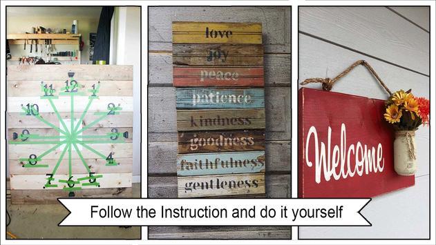 Classic DIY Pallet Wood Wall Sign screenshot 3