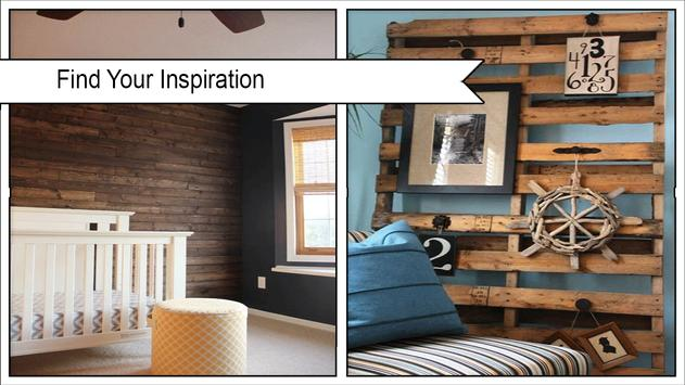 Rustic DIY Wood Pallet Wall poster