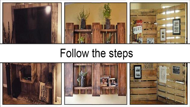 Rustic DIY Wood Pallet Wall screenshot 4