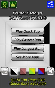 Don't Touch White 3D Poster