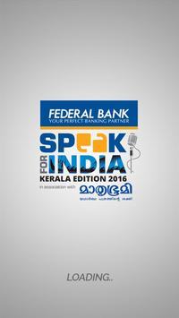 Speak for India - Kerala ed. poster