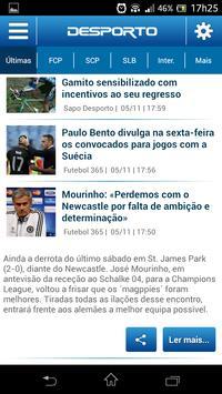 Notícias de Desporto apk screenshot
