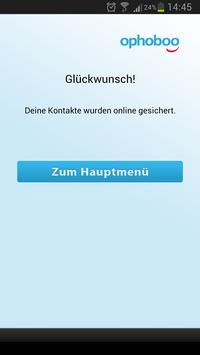 Kontakte Backup ophoboo apk screenshot