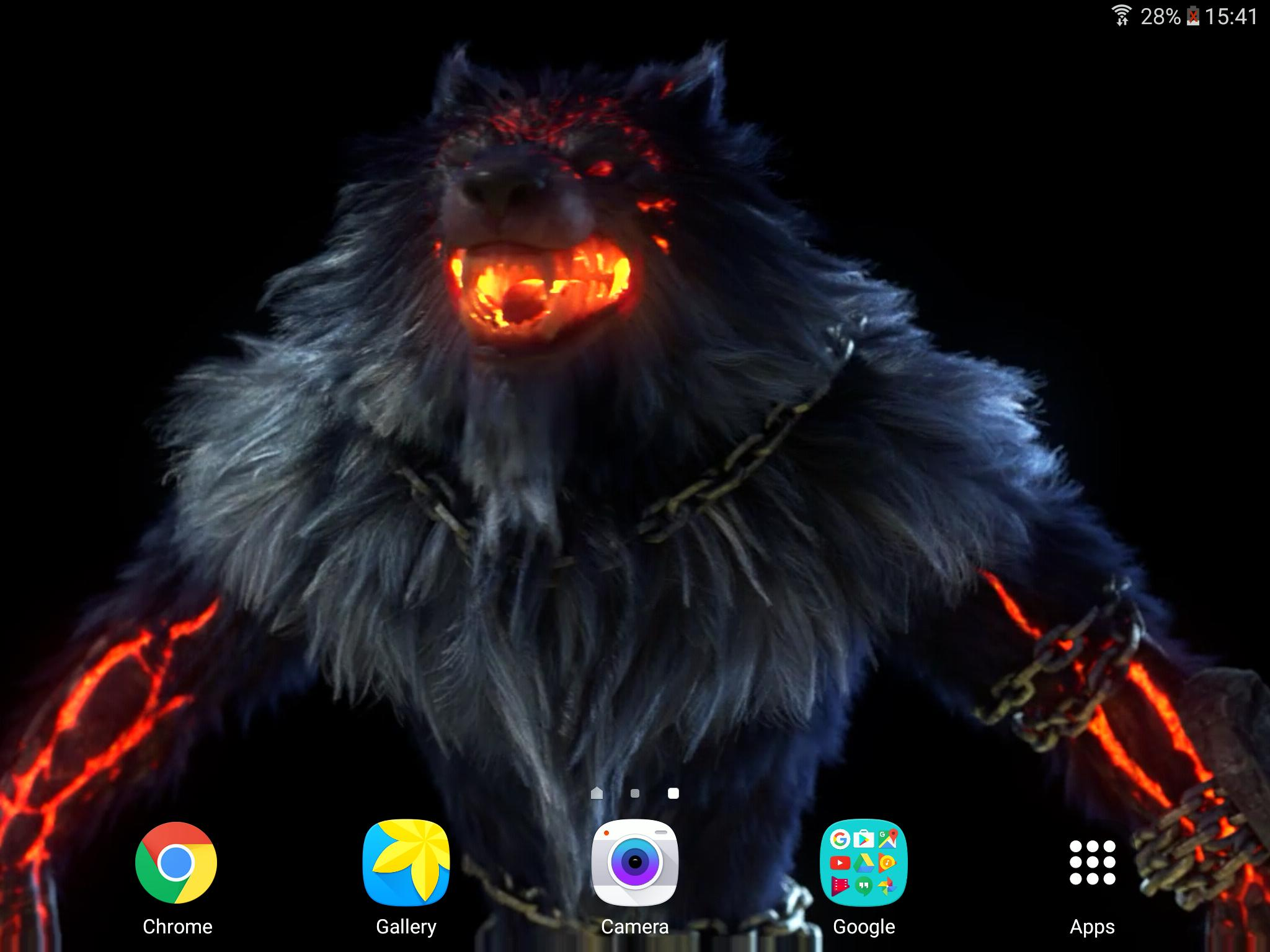 Angry Fire Wolf Live Wallpaper For Android Apk Download