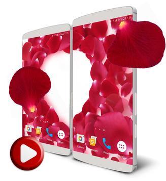 Rose Petals 3D Live Wallpaper poster