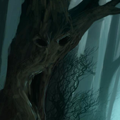 creepy forest wallpaper icon