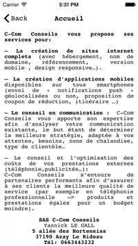 C-Com Conseils screenshot 1