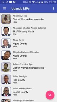 Uganda Members Of Parliament poster