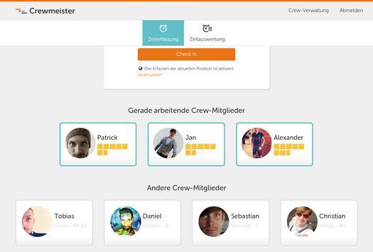 Crewmeister apk screenshot