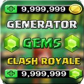 💎 Gems for Clash Royale Prank icon