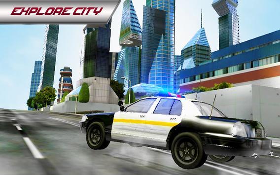 Police Car 3D : City Crime Chase Driving Simulator screenshot 8