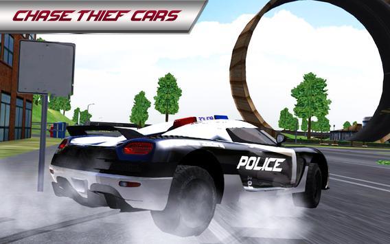 Police Car 3D : City Crime Chase Driving Simulator screenshot 9