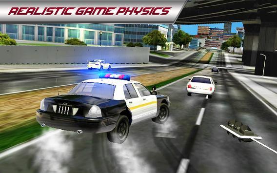 Police Car 3D : City Crime Chase Driving Simulator screenshot 2
