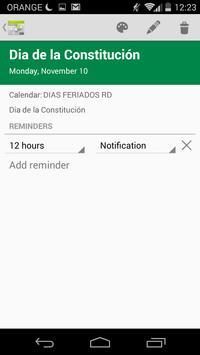 Dias festivos RD apk screenshot