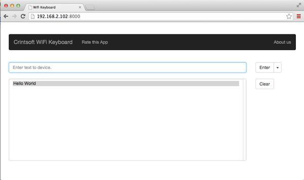 WiFi Keyboard apk screenshot