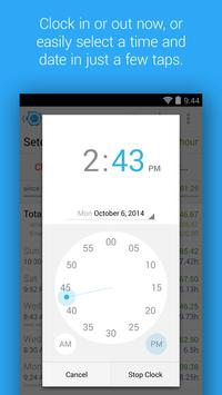 HoursTracker: Time tracking for hourly work Screenshot 1