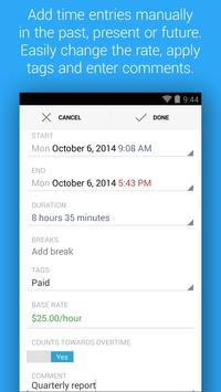 HoursTracker: Time tracking for hourly work 스크린샷 2