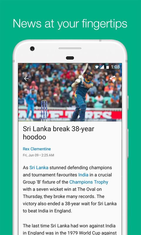 Get Live Cricket Scores, Scorecard, Schedules of International, Domestic and IPL Cricket Matches along with Latest News, Videos and ICC Cricket Rankings of Players on Cricbuzz.