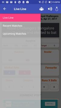 Cricket Live Line & Score apk screenshot