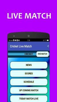 Cricket lIVE Match New poster
