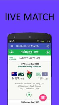 Cricket lIVE Match New apk screenshot
