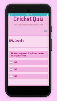 Cricket Quiz with IPL 2017 apk screenshot