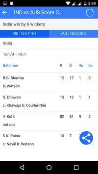 Live Cricket Scores screenshot 3