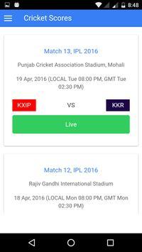 Live Cricket Scores poster
