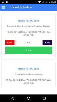 Live Cricket Scores screenshot 2